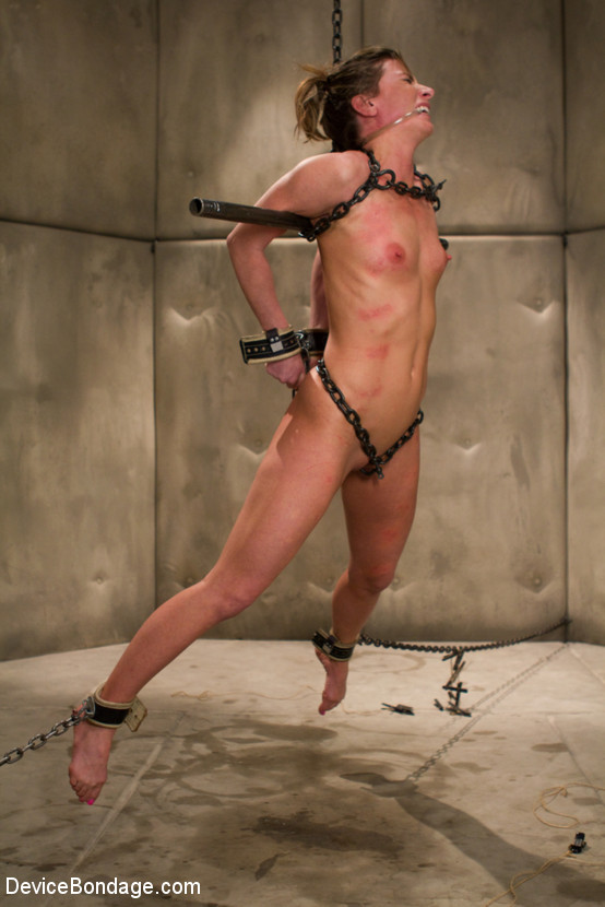 Nude women being stretched with chains you tell
