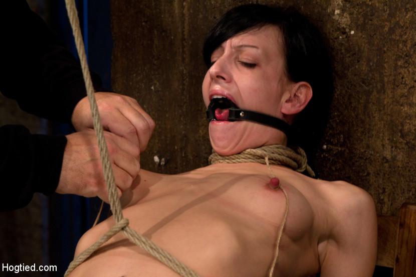 pulling Breast and bondage nipple