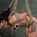 Jackie Daniels is tied up tight (6)